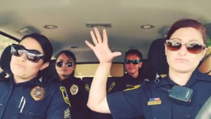 Police lip sync Five Finger Death Punch's Bad Company
